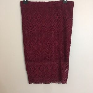Rue21 Skirts - Lacey pencil skirt runs very small